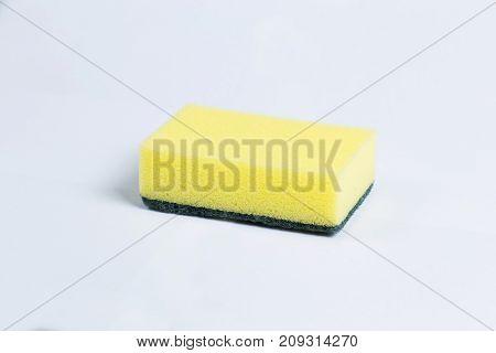 Sponges For Dishwashing Isolated On A White Background