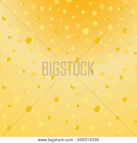 Gold glitter seamless pattern. Abstract texture background whit dots. Shiny holidays background