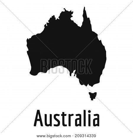 Australia map in black. Simple illustration of Australia map vector isolated on white background