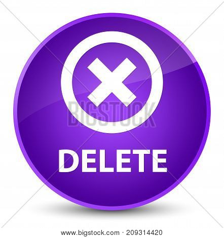 Delete Elegant Purple Round Button