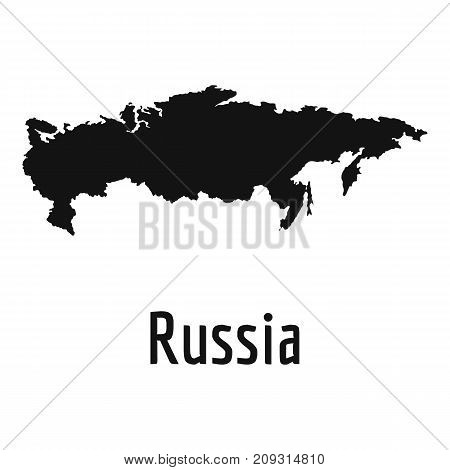 Russia map in black. Simple illustration of Russia map vector isolated on white background