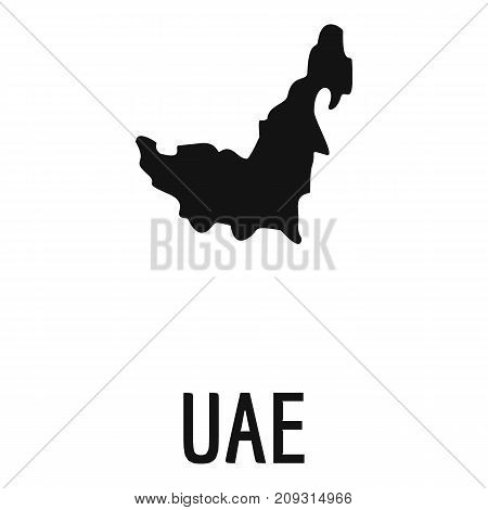 UAE map in black. Simple illustration of UAE map vector isolated on white background