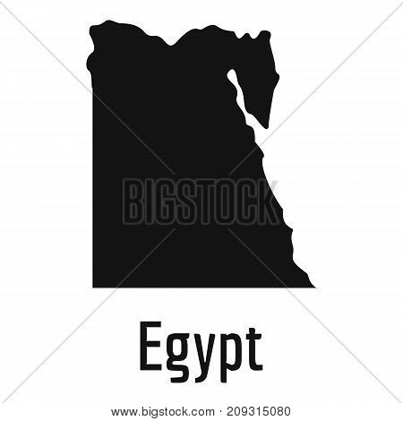 Egypt map in black. Simple illustration of Egypt map vector isolated on white background