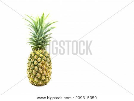 Fresh pine apple vitamin and good for health isolated on white background.