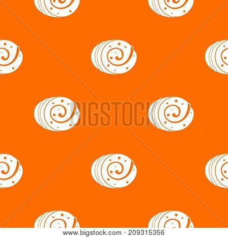 Fruit loaf pattern repeat seamless in orange color for any design. Vector geometric illustration