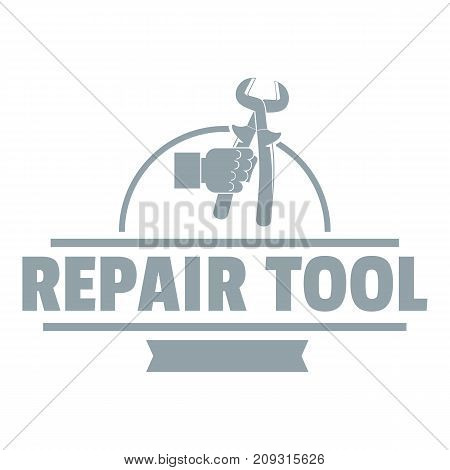 Repair firm logo. Vintage illustration of repair firm vector logo for web