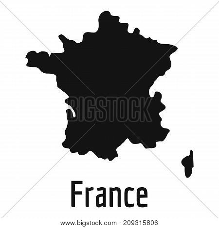 France map in black. Simple illustration of France map vector isolated on white background
