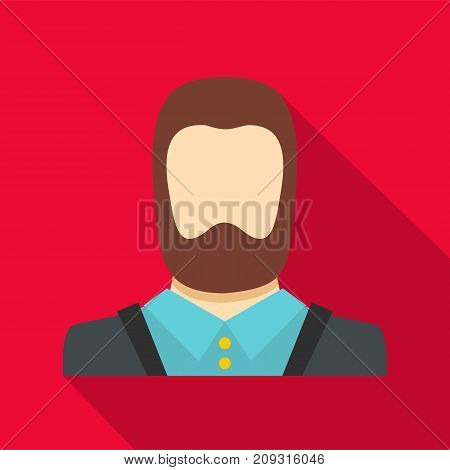 Man avatar icon. Flat illustration of man avatar vector icon for any web design