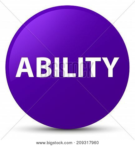 Ability Purple Round Button