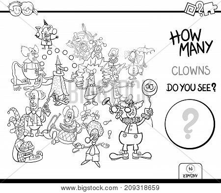 How Many Clowns Game Coloring Book