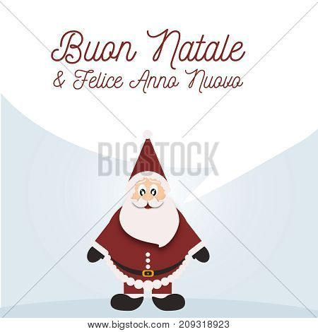 Background with Santa Claus, happy Christmas and Happy new year
