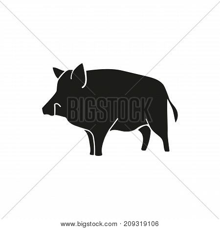 Simple icon of wild boar. Pig, farm animal, pork. Animals concept. Can be used for topics like zoo, wildlife, livestock