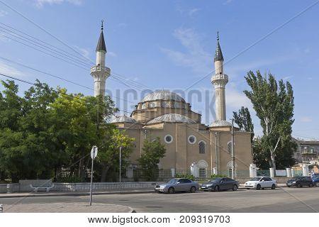Evpatoria, Republic of Crimea - July 19, 2017: Mosque of Juma-Jami in the city of Evpatoria, Crimea