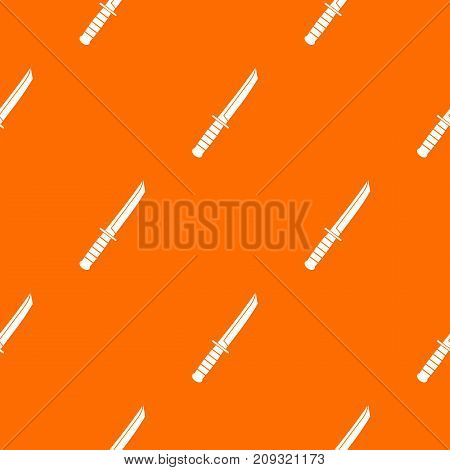 Little knife pattern repeat seamless in orange color for any design. Vector geometric illustration