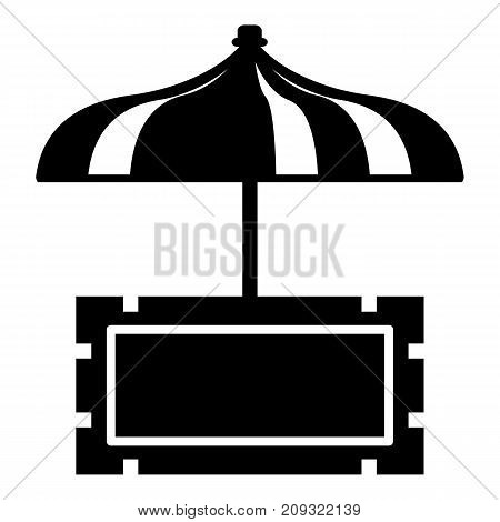Snack stall icon. Simple illustration of snack stall vector icon for web