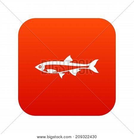 Herring fish icon digital red for any design isolated on white vector illustration