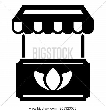 Eco stall icon. Simple illustration of eco stall vector icon for web