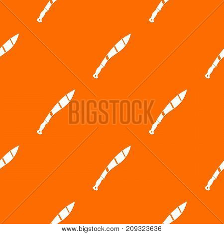 Crooked knife pattern repeat seamless in orange color for any design. Vector geometric illustration