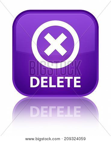 Delete Special Purple Square Button