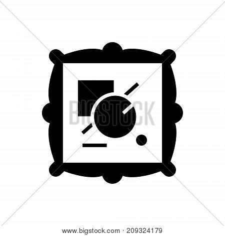 fine art icon, illustration, vector sign on isolated background