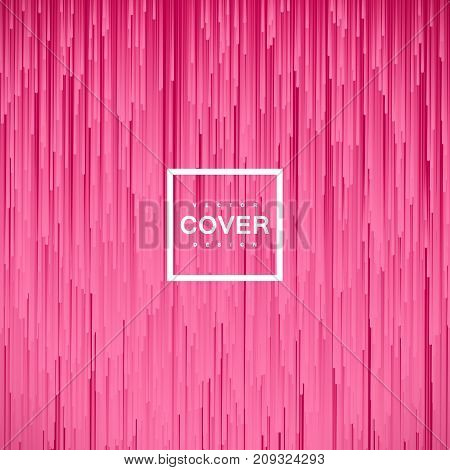 Abstract pink background with fluid lines. Vector art illustration. Cover or banner design template