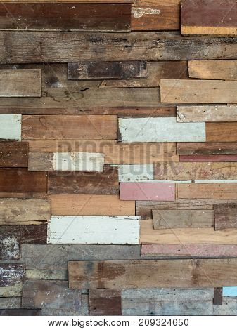 Ruine and dirty multi color plank wall texture for background