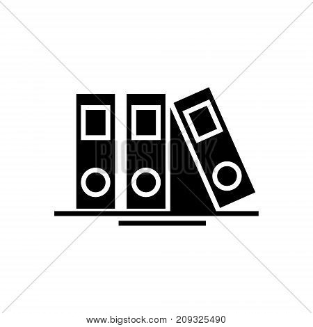 folders and files icon, illustration, vector sign on isolated background