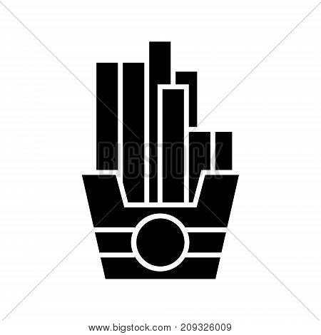 fries icon, illustration, vector sign on isolated background