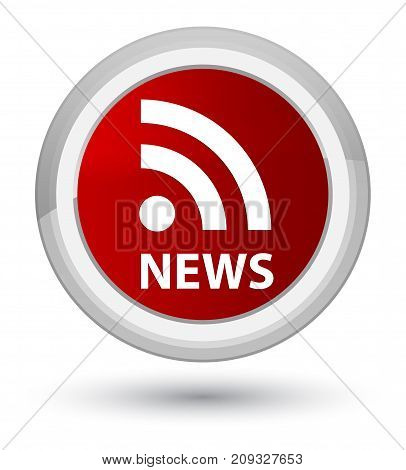 News (rss Icon) Prime Red Round Button