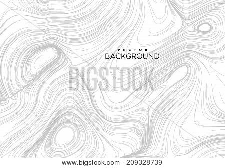 Abstract background with curled linear pattern. Vector sketch illustration of diffusion flowing curled lines. Applicable for cover, banner, poster, product package design.