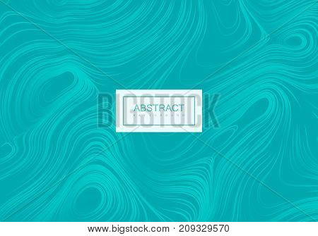 Abstract artistic winter blue background with swirly gradient lines. Vector vintage illustration with curled frozen pattern. Marble or acrylic texture imitation. Creative cool banner or poster design.