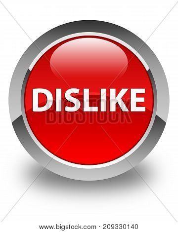 Dislike Glossy Red Round Button