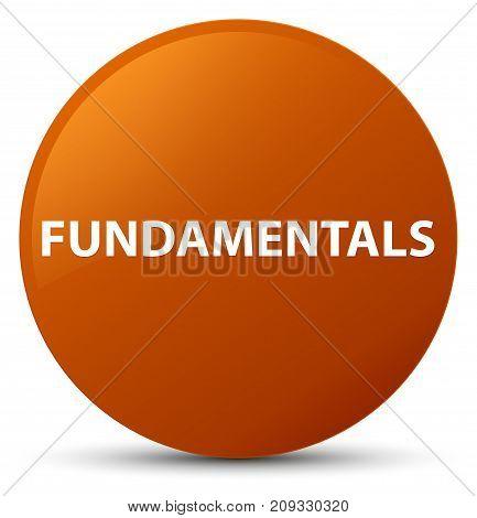 Fundamentals Brown Round Button