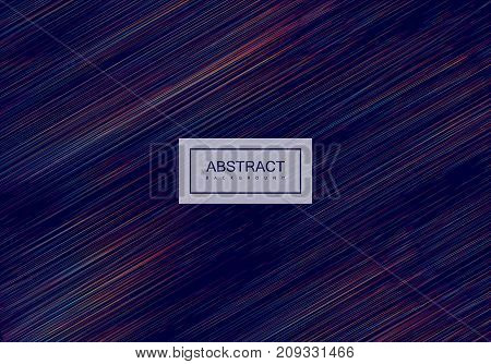 Abstract artistic rainbow background with motion lines. Vector creative illustration. Dynamic iridescent pattern. Spectrum colors linear texture. Decorative pattern for design