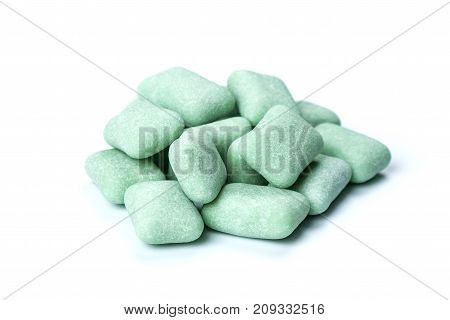 Close Up Chewing Gum Isolated