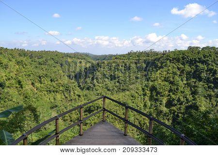 The Wonderful View Of Karangasem Regency (taken From Banjar Atugan) In Bali, Indonesia