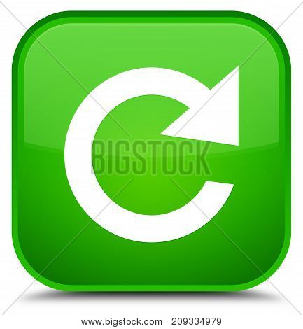 Reply Rotate Icon Special Green Square Button
