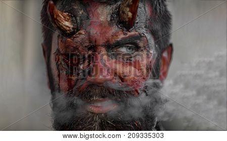 Halloween Hell, Hellfire, Danger, Smoke, Death Concept