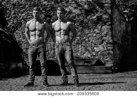Two Brothers With Bare Chest
