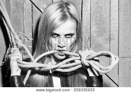 Woman With Rope
