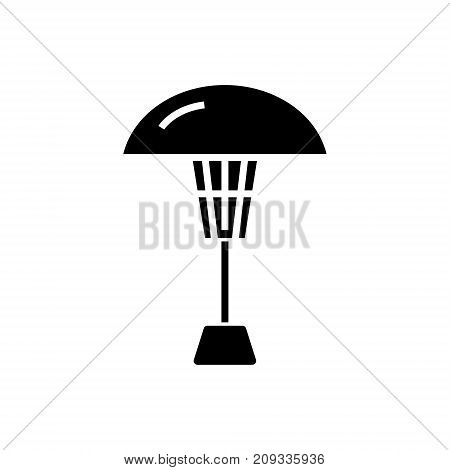 patio heater icon, illustration, vector sign on isolated background