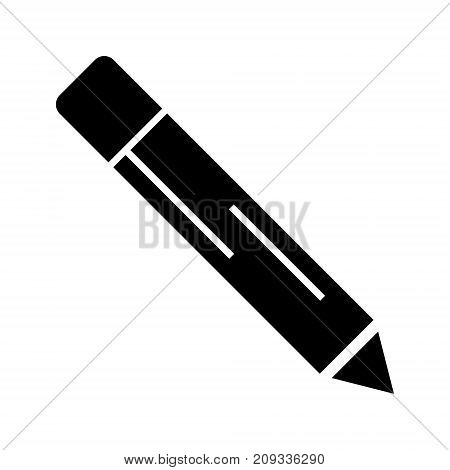 pencil icon, illustration, vector sign on isolated background