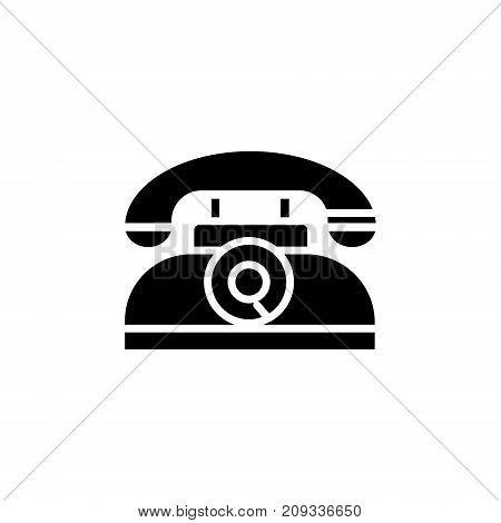 phone retro icon, illustration, vector sign on isolated background