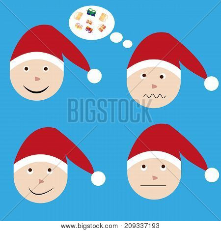 The emotions of Santa Claus in the New years eve