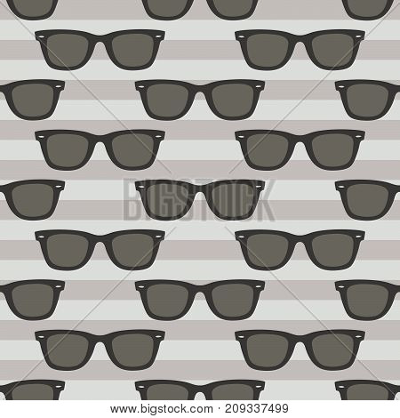 Classic glasses pattern, Seamless vector illustration, striped background