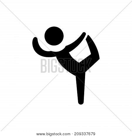 pilates - gymnastics - practice - exercise icon, illustration, vector sign on isolated background