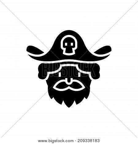 pirate icon, illustration, vector sign on isolated background