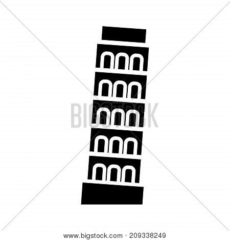 pisa - italy icon, illustration, vector sign on isolated background