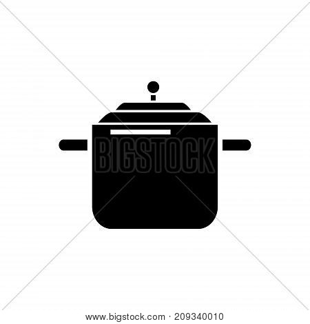 Pressure cooker - pot thermo icon, illustration, vector sign on isolated background
