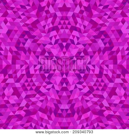 Circular geometric triangle kaleidoscope mandala background - symmetric vector pattern graphic design from color triangles